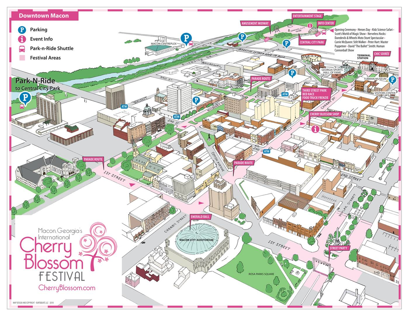 Maps Macon Georgias International Cherry Blossom Festival
